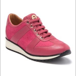 LONGCHAMP Genuine Calf Hair & Leather Sneaker
